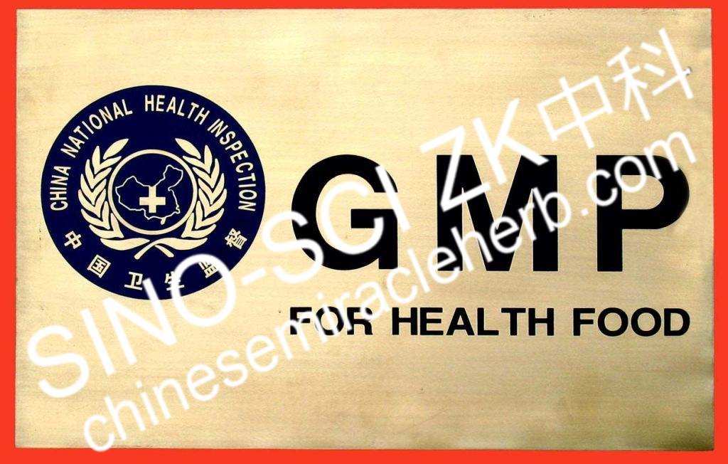 China National Health Inspection GMP Certification